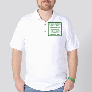 sex, love and coupons Golf Shirt