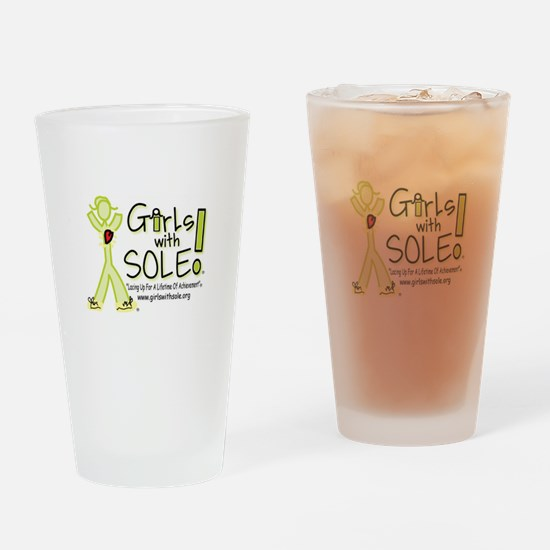 Girls With Sole Drinking Glass