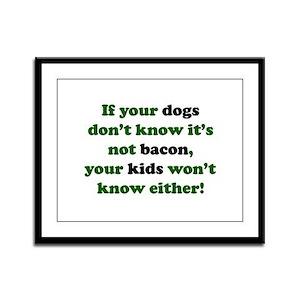 Bacon Dogs Framed Panel Print