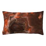 Red Oil Fractal Pillow Case