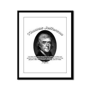 Thomas Jefferson 12 Framed Panel Print