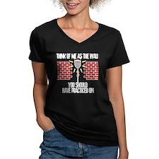 Lacrosse Goalie Wall Women's V-Neck Dark T-Shirt