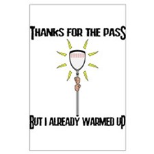 Lacrosse Goalie PAss Large Poster