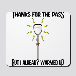 Lacrosse Goalie PAss Mousepad