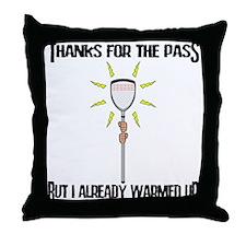 Lacrosse Goalie PAss Throw Pillow