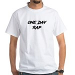 Inverted One Day Rap White T-Shirt