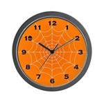 Halloween Spider Web Wall Clock