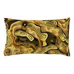 Gold N Black Whorls Pillow Case