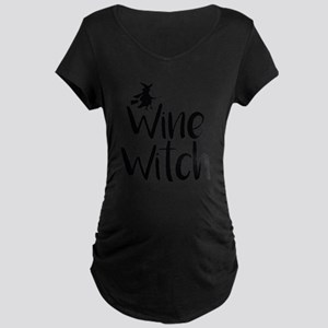 Wine Witch Maternity T-Shirt