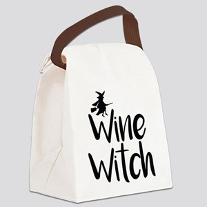 Wine Witch Canvas Lunch Bag