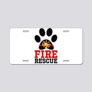Fire and Rescue Dog Aluminum License Plate