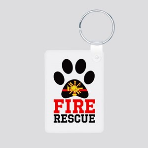 Fire and Rescue Dog Keychains