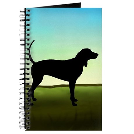 Coonhound In A Field Journal