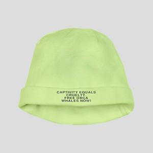 Captivity=Cruelty - baby hat