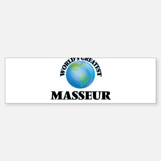 World's Greatest Masseur Bumper Bumper Bumper Sticker