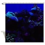 Dark Coral Shower Curtain