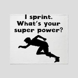 I Sprint Super Power Throw Blanket