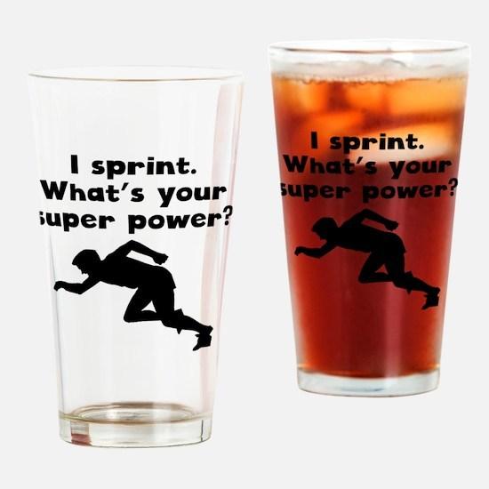 I Sprint Super Power Drinking Glass
