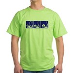 Blue Fencing Thrust Green T-Shirt