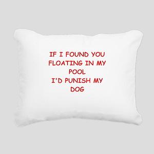 idiot Rectangular Canvas Pillow