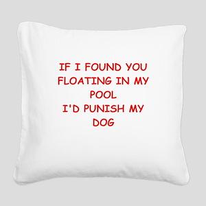 idiot Square Canvas Pillow