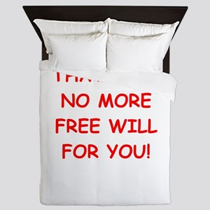 free will Queen Duvet