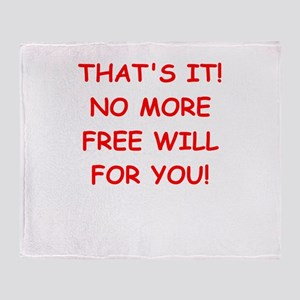 free will Throw Blanket