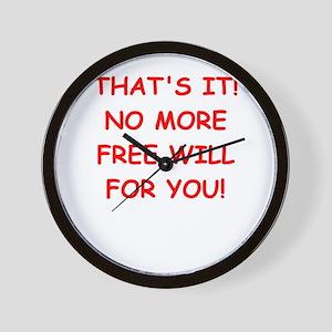 free will Wall Clock