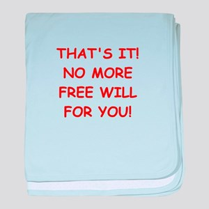 free will baby blanket