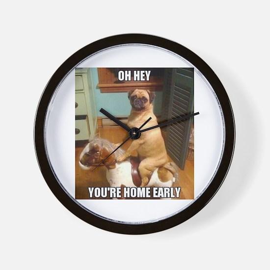 Cool Pugs Wall Clock