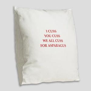 asparagus Burlap Throw Pillow