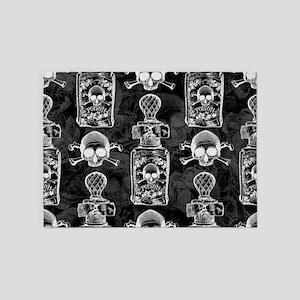 Gothic Pretty Poison Bottle Pattern 5'x7'Area Rug