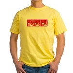 Red Fencing Thrust Yellow T-Shirt