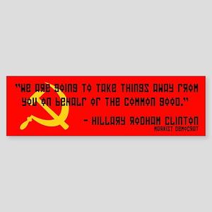 Democratic Republican Political Bumper Sticker