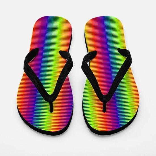 Wild Zany Rainbow Menagerie Flip Flops