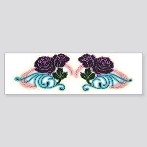 Purple Roses Bumper Sticker