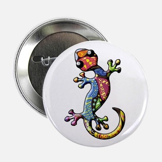 """Calico Paisley Lizards 2.25"""" Button"""