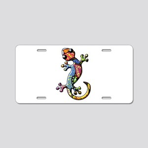 Calico Paisley Lizards Aluminum License Plate