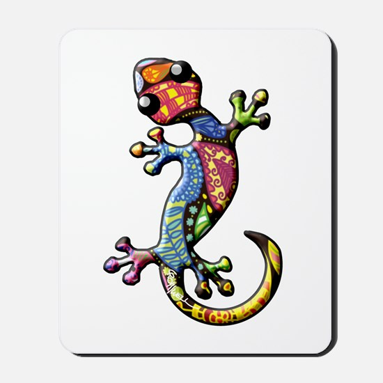 Calico Paisley Lizards Mousepad