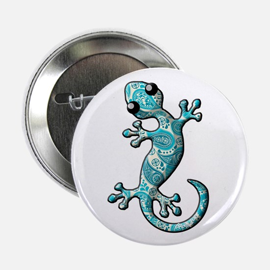 """Turquoise Paisley 2.25"""" Button"""