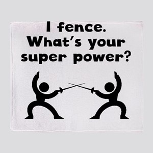 I Fence Super Power Throw Blanket