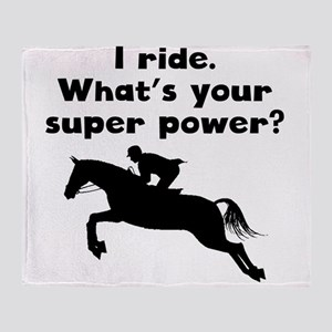 I Ride Super Power Throw Blanket