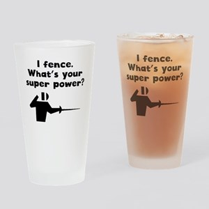 I Fence Super Power Drinking Glass