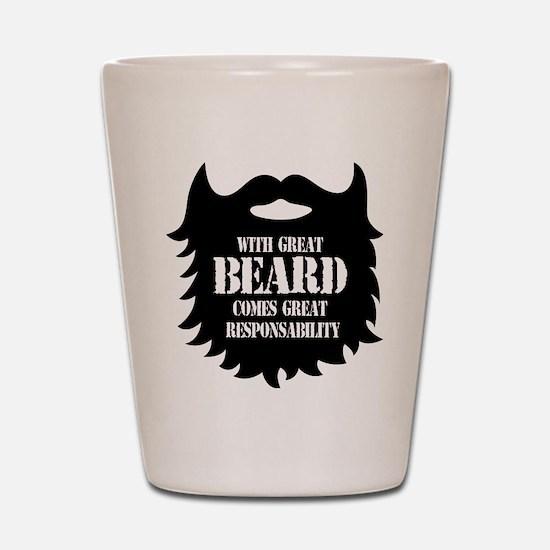 Great Beard - Great Responsability Shot Glass