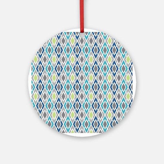 Diamond Geometric Pattern Ornament (Round)