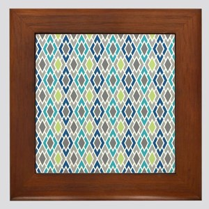Diamond Geometric Pattern Framed Tile