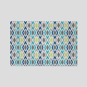 Diamond Geometric Pattern Rectangle Magnet