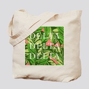 Delta Delta Delta Banana Leaves Tote Bag