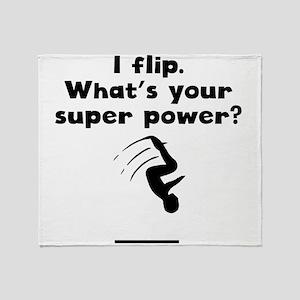 I Flip Super Power Throw Blanket