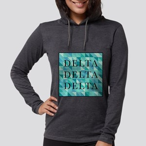 Delta Delta Delta Geometric Womens Hooded Shirt